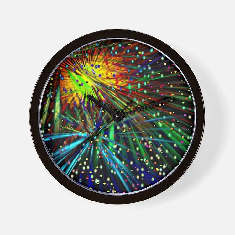 Fireworks Galore Wall Clock