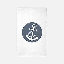 Nautical Anchor 3'x5' Area Rug