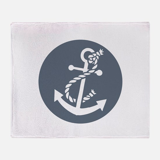 Nautical Anchor Throw Blanket