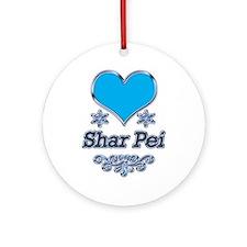 Chinese Shar Pei Ornament (Round)