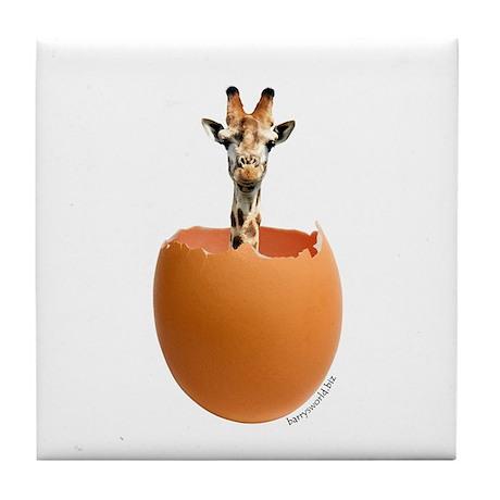 Giraffe Egg Tile Coaster