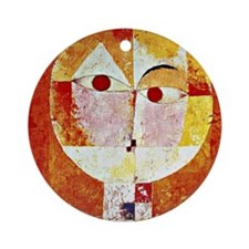 Klee - Senecio, painting by Paul Kl Round Ornament