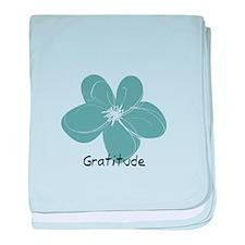 Gratitude floral baby blanket
