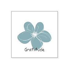 Gratitude floral Sticker