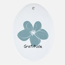 Gratitude floral Ornament (Oval)