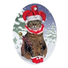 Jester Cat Christmas Ornament