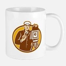 Photographer Vintage Camera Front Retro Mugs