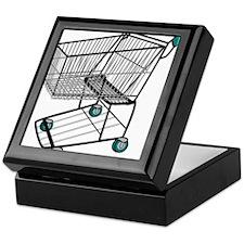 Shopping Cart Keepsake Box
