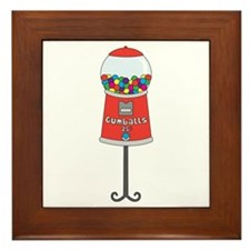 Gumball Machine Framed Tile