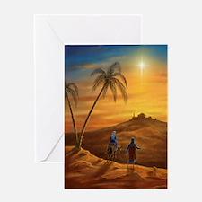421 Mary & Joseph b Greeting Card