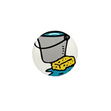 Bucket and Sponge Mini Button (10 pack)