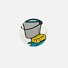 Bucket and Sponge Mini Button