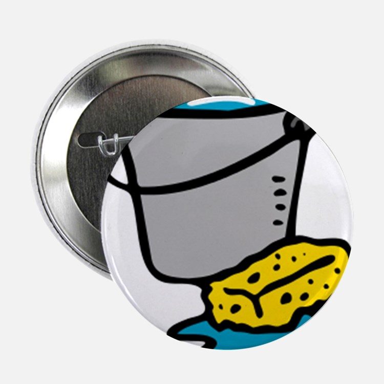 """Bucket and Sponge 2.25"""" Button"""