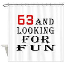 63 and looking for fun birthday designs Shower Cur