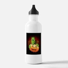 Frankenstein Monster Cartoon with Pumpkin Water Bo