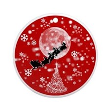 Santa Claus is Coming to Town  Round Ornament