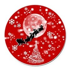Santa Claus is Coming to Town  Round Car Magnet