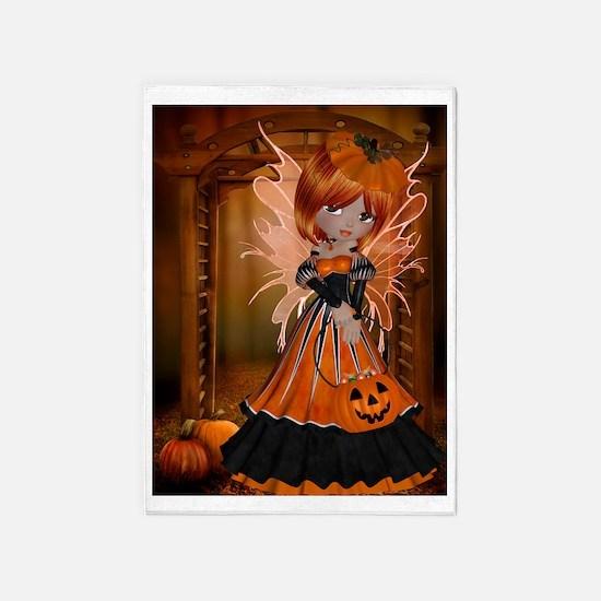 Pumpkin Fairy 5'x7'Area Rug