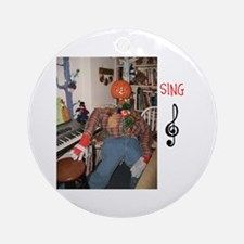 SING, MR. PUMPKIN DEPOT. Ornament (Round)