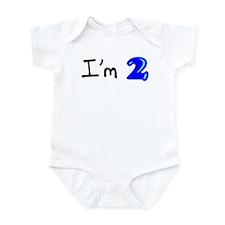 I'm two (bubble) Infant Bodysuit