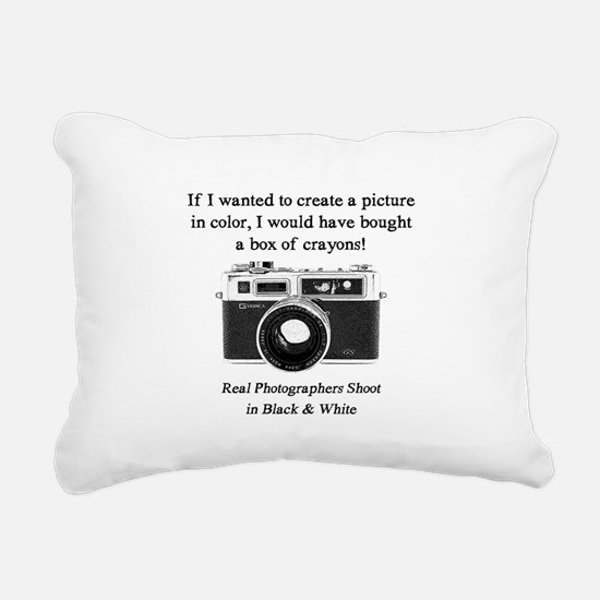 Black and White Photographer Rectangular Canvas Pi
