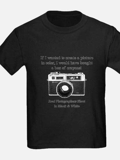 Black and White Photographer T-Shirt