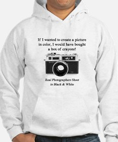 Black and White Photographer Hoodie