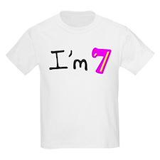 I'm seven (bubble) Kids T-Shirt