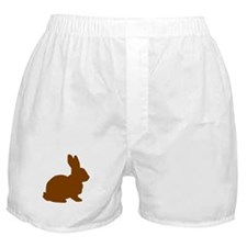 Brown Bunny Silhouette Boxer Shorts