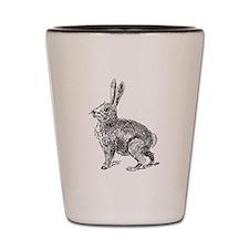 Hare Sketch Shot Glass