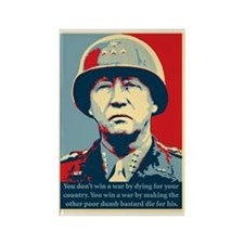 General George S. Patton Rectangle Magnet