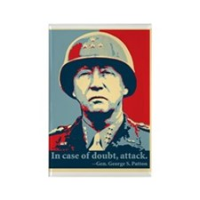 Gen. George S. Patton Rectangle Magnet
