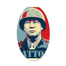 General Patton Oval Car Magnet