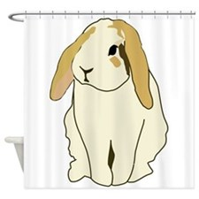 Brown Eared Bunny Shower Curtain