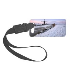 Windmill in wintertime Luggage Tag