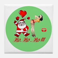 Ho, Ho, Ho!!!  Tile Coaster