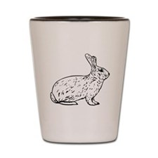Rabbit Drawing Shot Glass