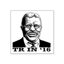 "Theodore Roosevelt for Pres Square Sticker 3"" x 3"""