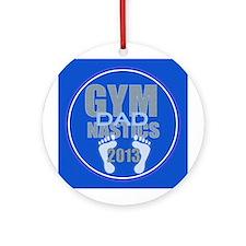 Gymnastics Dad 2013 Ornament (Round)