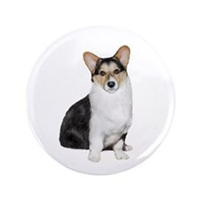 "Welsh Corgi (tri) 3.5"" Button"