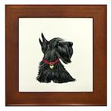 Scottish terrier Framed Tiles