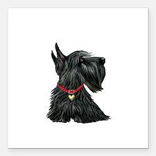 "Scottish Terrier 1 Square Car Magnet 3"" x 3"""