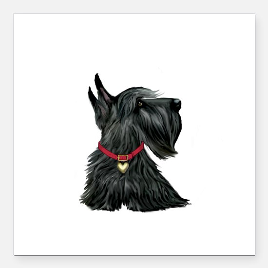 "Scottish Terrier 1 Square Car Magnet 3"" x 3"""
