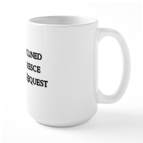 DISINCLINED Large Mug