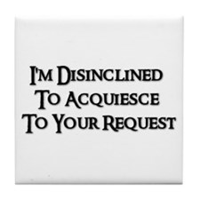 DISINCLINED Tile Coaster