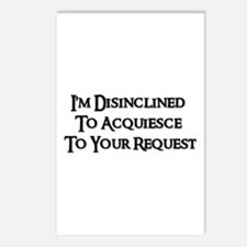 DISINCLINED Postcards (Package of 8)