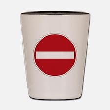 Do Not Enter Shot Glass
