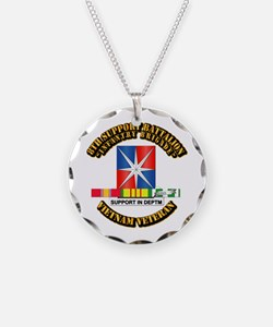 8th Support Bn w SVC Ribbon Necklace
