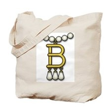 B Necklace Tote Bag