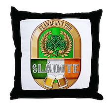 Flanagan's Irish Pub Throw Pillow